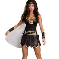 Xena Warrior Queen Costume Women's Sexy Gladiator Princess Fancy Dress M-XXL