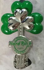 Hard Rock Cafe PRAGUE 2014 St. Patrick's Day PIN Silver/Green 3D Shamrock Guitar
