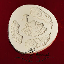 Peacock silicone food grade mold mould wedding birthday bird feathers
