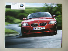 Prospekt BMW Z4 M Roadster E85 343 PS Modell 2005 2006 deutsch brochure