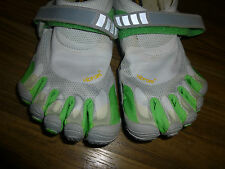 VIBRAM Five Fingers BIKILA LIGHT GRAY / GREEN Size 40  Women's 8.5-9