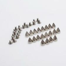 20pcs Cone Spikes Studs for DIY Craft Punk Leathercraft Bag Bracelet Clothes 9mm