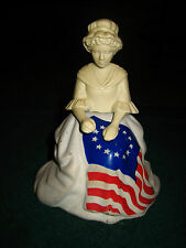 Vintage Avon Betsy Ross Flag Bicentennial Figurine Perfume Decanter~July 4 1976~