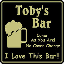 New Personalized Custom Name I Love This Bar Beer Pub Gift Sign # 3