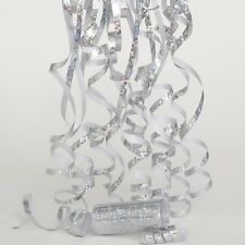 Silver Sparkle Birthday Party Laser throws Streamers Decorations