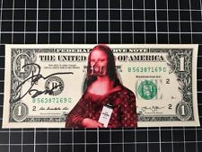 DEATH NYC billet 1 dollar signé + COA  -Banksy/fairey/cope2/seen/invader/C215
