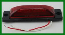 "Side Marker Clearance 6 LED Light Red Lens Base Combo 1-1/4"" X 5"" Surface Mount"
