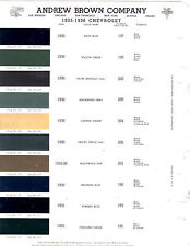 1935 1936 1937 CHEVROLET 35 36 37 ANDREW BROWN COMPANY 3637 BROLITE PAINT CHIPS