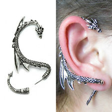 1 x New Silver Snake Ear Cuff Clip Wrap Lure Stud Earing Gothic Punk Gift