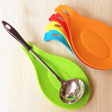1Pc New Silicone Cooking Spoon Insulation Mat Drink Glass Coaster Tray Placemat
