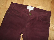 Nouveau courant ELLIOTT the skinny cordons vin rouge bordeaux jeans 25 uk 6-8 usa 2-4