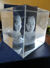 Personalized Square 3D Crystal Cube High End Laser Engraved Your Own Image!!