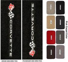 Lloyd Mats C3 Corvette Sideways Logo Classic Loop Floor Mats (1968-1982)