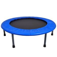 "36"" Round Fitness Mini Trampoline w/ Bag Folding Rebounder Indoor Exercise"