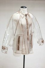 PRADA Authentic Transparent Cropped Raincoat Trench Made in Italy Women's 40