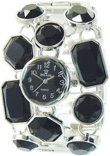 Bellos Women's Quartz Watch Black Silver Analogue Wristwatch W-60356111706900