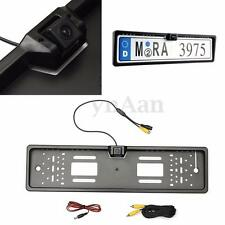 170° Waterproof European Car License Plate Frame Rear View Night Vision Camera