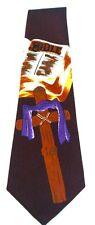 NEW!! Religious Cross Bible Purple Cloak Men's Novelty Necktie Neck Tie Sleeved
