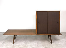 Vintage Paul McCobb Planner Group Bench Table Cabinet Storage Mid Century Modern
