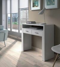 Ambra White Extending Gloss Console/Dressing Table Computer Desk Bedroom