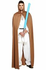 LONG BROWN CAPE, JEDI, STAR WARS, FILM, HALLOWEEN ADULT