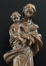 Hübsche alte Holz geschnitzte Madonna mit Kind