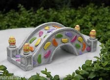 Miniature Dollhouse FAIRY GARDEN ~ EASTER Bunny Trail ~ Jelly Bean Bridge ~ NEW