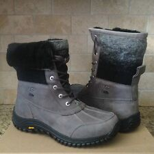 UGG Adirondack II Charcoal Leather Sheepskin Waterproof eVent Boots US 12 Womens