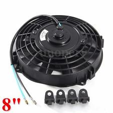 8'' 80W 12V Pull Push Slim Electric Radiator Engine Cooling Fan Black Universal