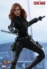 Black widow hot toys 1/6 figure (captain america guerre civile) * uk navire * en stock