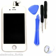 LCD Digitizer Glass White Touch Screen Replacement Assembly for iphone 4 CDMA