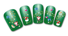 Nailart stickers autocollants ongles scrapbooking décorations Père Noël noeuds