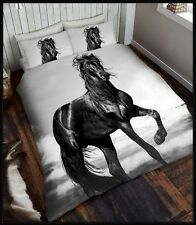 Black Horse Queen Size Quilt Cover Set New