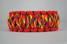 550 Paracord Survival Bracelet King Cobra Red/Phoenix Rising Camping Tactical