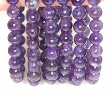 8MM DARK AMETHYST GEMSTONE GRADE AB PURPLE ROUND 8MM LOOSE BEADS 7""