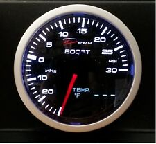 60mm Depo Racing 2 in 1 Turbo Boost & Water / Oil Temp Gauge WA60134B