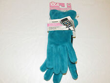18OS Techtouch touch screen compatible gloves lush Turquois Womens Ladies M NWT#
