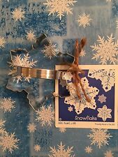 Ann Clark 01-032 Holiday Snowflake Shape Cookie Cutter New