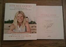 It's All Good SIGNED Gwyneth Paltrow Hardback Cook Recipe Book 2013