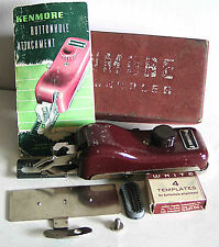 Vintage KENMORE Sewing Machine Buttonhole Attachment in box FREE SH