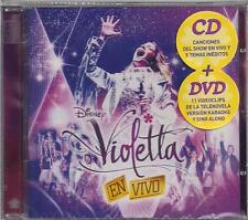 CD + DVD SET VIOLETTA EN VIVO BRAND NEW SEALED LIVE 2013 DISNEY