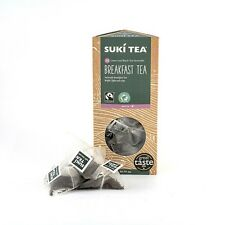 PACK OF 15 SUKI FAIRTRADE BREAKFAST TAG PYRAMID TEA BAGS - AWARD WINNING TEA