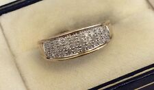 Beautiful Ladies Full Hallmarked Solid 9ct Gold ( .25 ) 1/4 Carat Diamond Ring