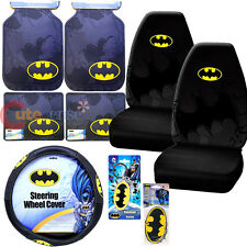 DC Comics Batman Car Seat Cover Accessories 10pc Set High Back Shattered