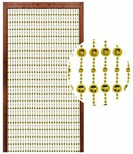 New Stylish Beaded Door Curtain Disco Ball String Blind Screen Room Divider Gold