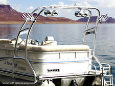 WAKEBOARD TOWER UNIVERSAL FOLDING FOR PONTOON BOATS POLISHED ALUMINUM