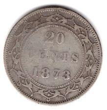 1873 Newfoundland Canada 20 Cents .925 Silver Coin A156