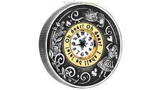 2 $ Dollar Alice im Wunderland mit echter Uhr Tuvalu 2 oz Unzen Silber 2015