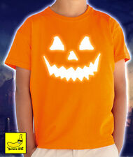 Halloween Pumpkin Face T-Shirt Boys Girls Scary Horror Spooky Pumpkin Costume