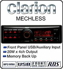 CLARION FZ 102E Single DIN FM Car Radio Direct iPod Front USB 3.5 AUX Headunit